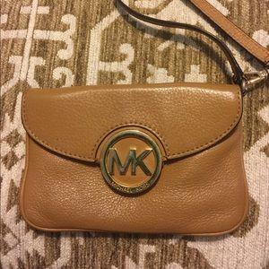Michael Kors Khaki Wristlet Vintage Design Used